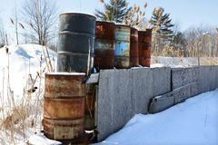 Oil Drums Royalty Free Stock Photo