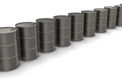 Oil drums (clipping path included) Royalty Free Stock Image
