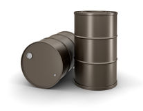 Oil drums (clipping path included) Stock Photo