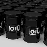 The oil drums. 3d generated picture of oil drums stock illustration