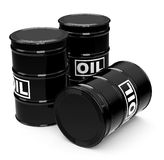 The oil drums. 3d generated picture of oil drums royalty free illustration