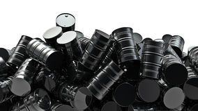 Oil drums pile Royalty Free Stock Photo