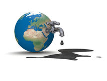 Oil from Earth vector illustration