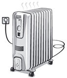 Oil electric heater Royalty Free Stock Images