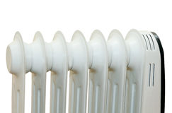 Oil electric radiator heater isolaited Royalty Free Stock Photos