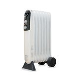 Oil electric radiator heater isolaited over white Royalty Free Stock Images