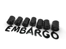 Oil embargo Royalty Free Stock Image