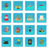 Oil and energy industry icon blue app Royalty Free Stock Image