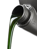 The oil for the engine flows Royalty Free Stock Photos