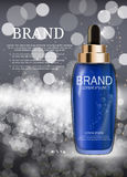 Oil Essence Hydrating Concentrate Bottle Template for Ads  Stock Photography