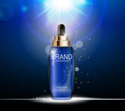 Oil Essence Hydrating Concentrate Bottle Template for Ads  Stock Image
