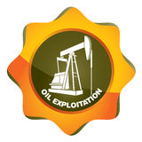 Oil exploitation station. Pumping unit abstract illustration Royalty Free Stock Photography