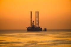 Oil explorer drilling vessel royalty free stock image