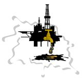 Oil extraction Royalty Free Stock Photos