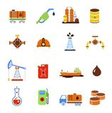 Oil extraction gas production transportation and. Distribution pictograms collection with industrial complex petroleum pump isolated vector illustration vector illustration
