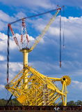 Oil extraction platform Stock Photos