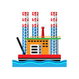 Oil extraction platform vector illustration Royalty Free Stock Photography