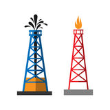 Oil extraction platform vector illustration Stock Images