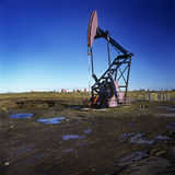 Oil extraction pump Royalty Free Stock Photos