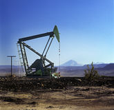 Oil extraction pump Royalty Free Stock Photography