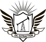 Oil extraction Stock Image