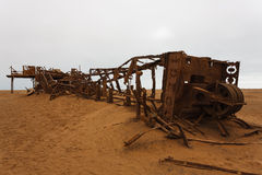 Oil extraction station. Old oil extraction station abandoned from Skeleton Coast, Namibia Stock Photography