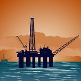 Oil extraction tower Stock Photography