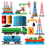 Oil extraction transportation vector illustration Royalty Free Stock Photography