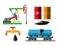 Oil extraction transportation vector illustration Stock Photography