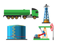 Oil extraction transportation vector illustration Stock Images