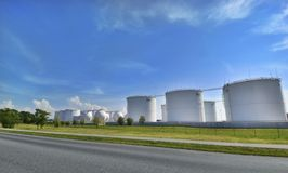 Oil factory Royalty Free Stock Photography