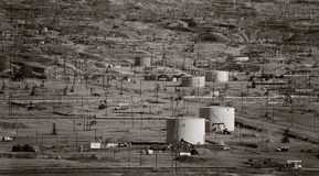 Oil Field. S outside Bakersfield, California stock photography
