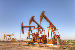 Oil field Royalty Free Stock Photos