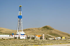 Oil field. New oil and gas drilling activity in Wyoming Stock Photos