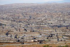 Oil field in Bakersfiled, California stock images
