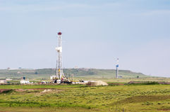 Oil field drilling Royalty Free Stock Photos