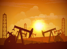 Oil Field Poster Stock Photos
