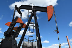 Oil Field Pump Jack Stock Photo
