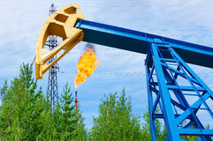 Oil field. Royalty Free Stock Photo