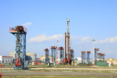 Oil field scen Royalty Free Stock Photography
