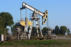 Oil field Stock Image