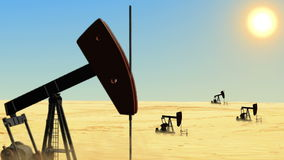 Oil field stock video