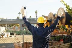 Oil field worker Stock Image