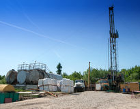 Oil field Royalty Free Stock Images