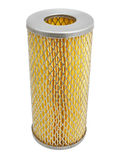 The oil filter. On a white background. The image contains a contour for cropping Royalty Free Stock Image