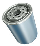 Oil filter. Car engine oil filter, 3D render Royalty Free Stock Images