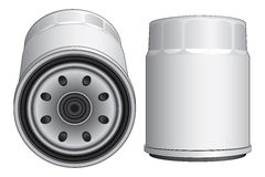 Oil Filter-Automobile. Illustration of an oil filter used in automobile engines such as cars, trucks and vans Royalty Free Stock Image