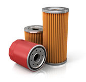 Oil filter car (done in 3d). Isolated on white background Stock Photo