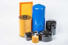 Oil filter for car on white background Stock Photography