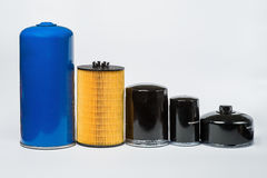 Oil filter for car on white background Royalty Free Stock Image